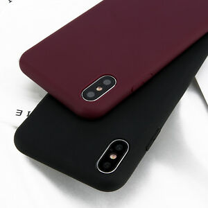 For-iPhone-X-Xs-Max-8-7-6s-Plus-Ultra-Thin-Slim-Rubber-Soft-Silicone-Case-Cover