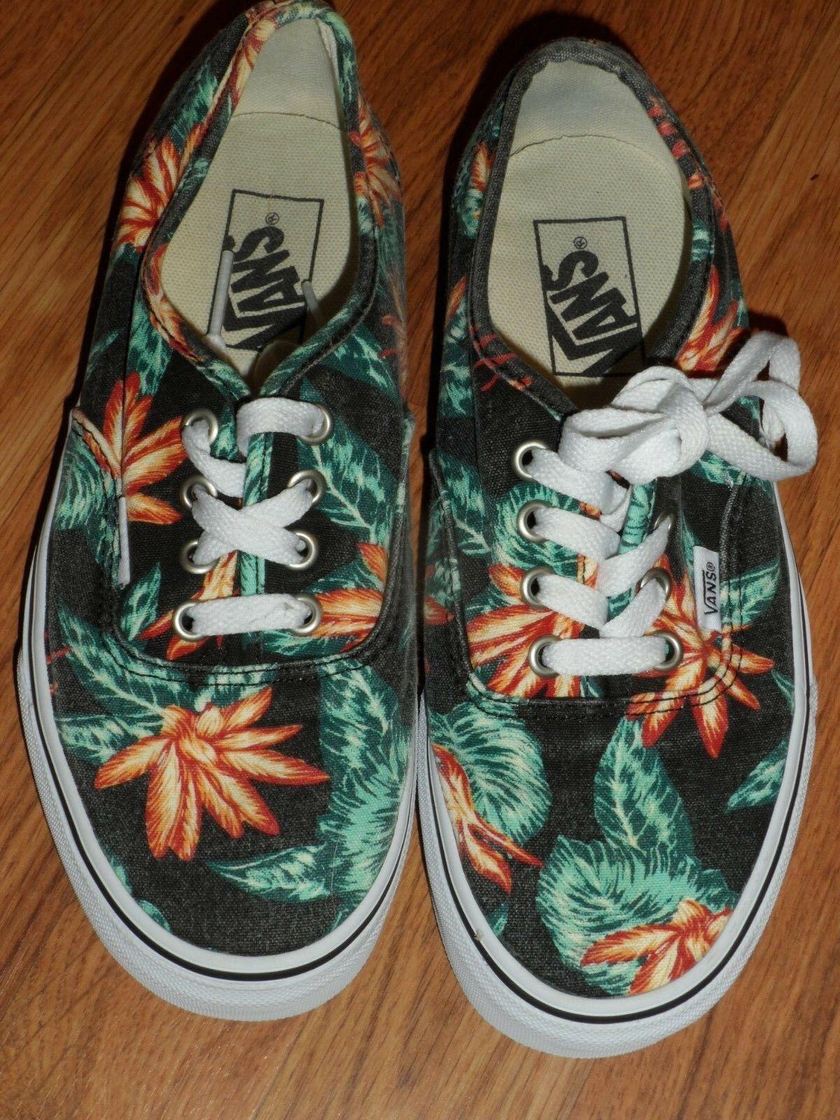Men youth boy girl 5.5  women 7   tropical Hawaiian     Vans shoes