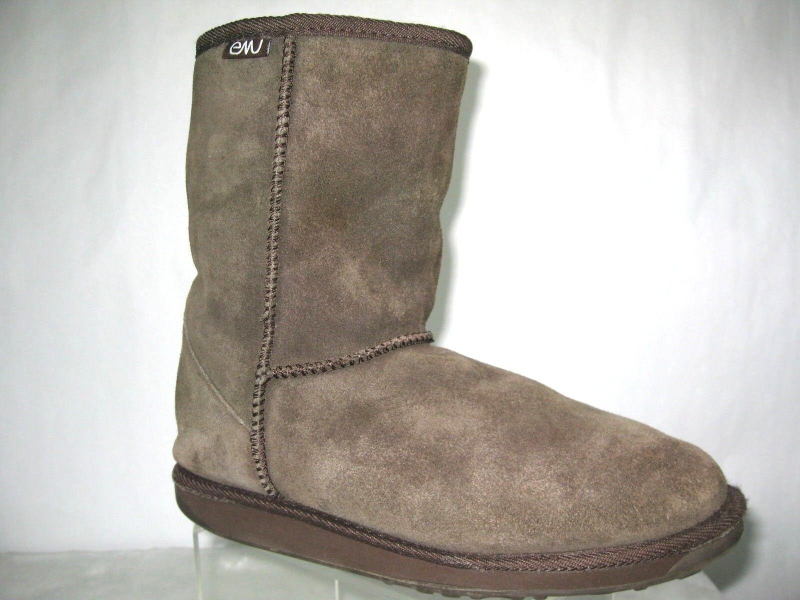 Emu Womens Boots Gray US Women Sz 8/Men Sz 7 100% Merino Wool  Bronte Lo