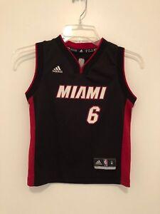 brand new 441e9 7ba27 Details about Miami Heat James Jersey 6 Sleeveless Knit NBA Adidas Youth  Medium