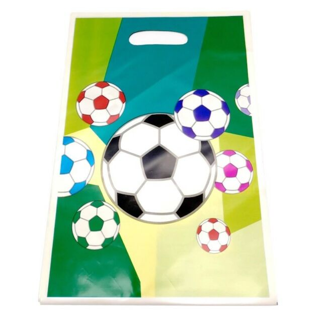 SPORT SOCCER/FOOTBALL PARTY LOOT/LOLLY BAGS - PARTY SUPPLIES - PACK OF 10