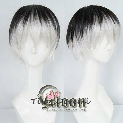 Halloween Wig Hair Cosplay Costume Tokyo Ghoul black white Karneval Anime Wigs