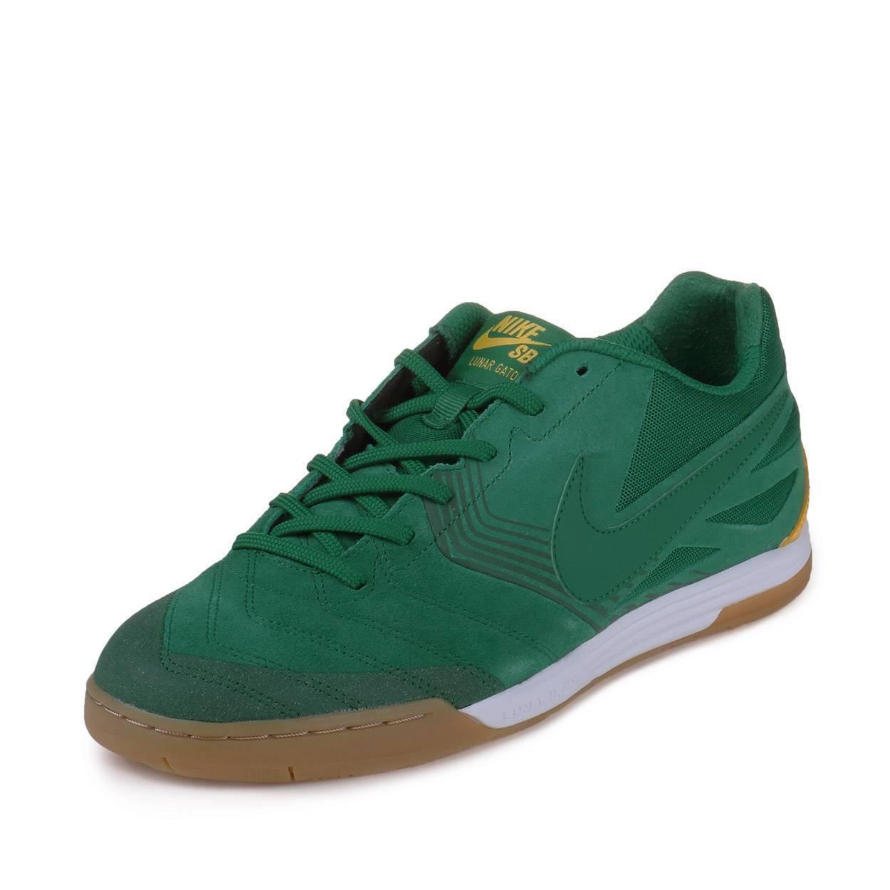 Nike SB Lunar Gato 631321-337 BRAZIL US Size mens 10 Lunarlon Indoor GREEN shoes