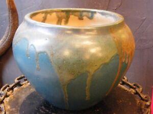 Other Antique Ceramics Dutiful Vase Pansu Léon Pointy Sandstone Drips Puisaye School Carries N°2 Superior Materials