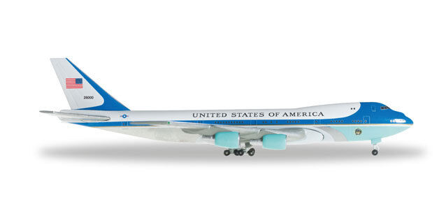 Herpa 502511-002 United States Boeing 747-200  Air Force One 1 500 suberb detail