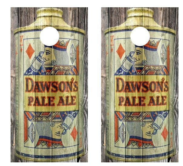 Vintage Dawsons Pale Ale - Beer Can  Barnwood Cornhole Board Wraps  buy cheap