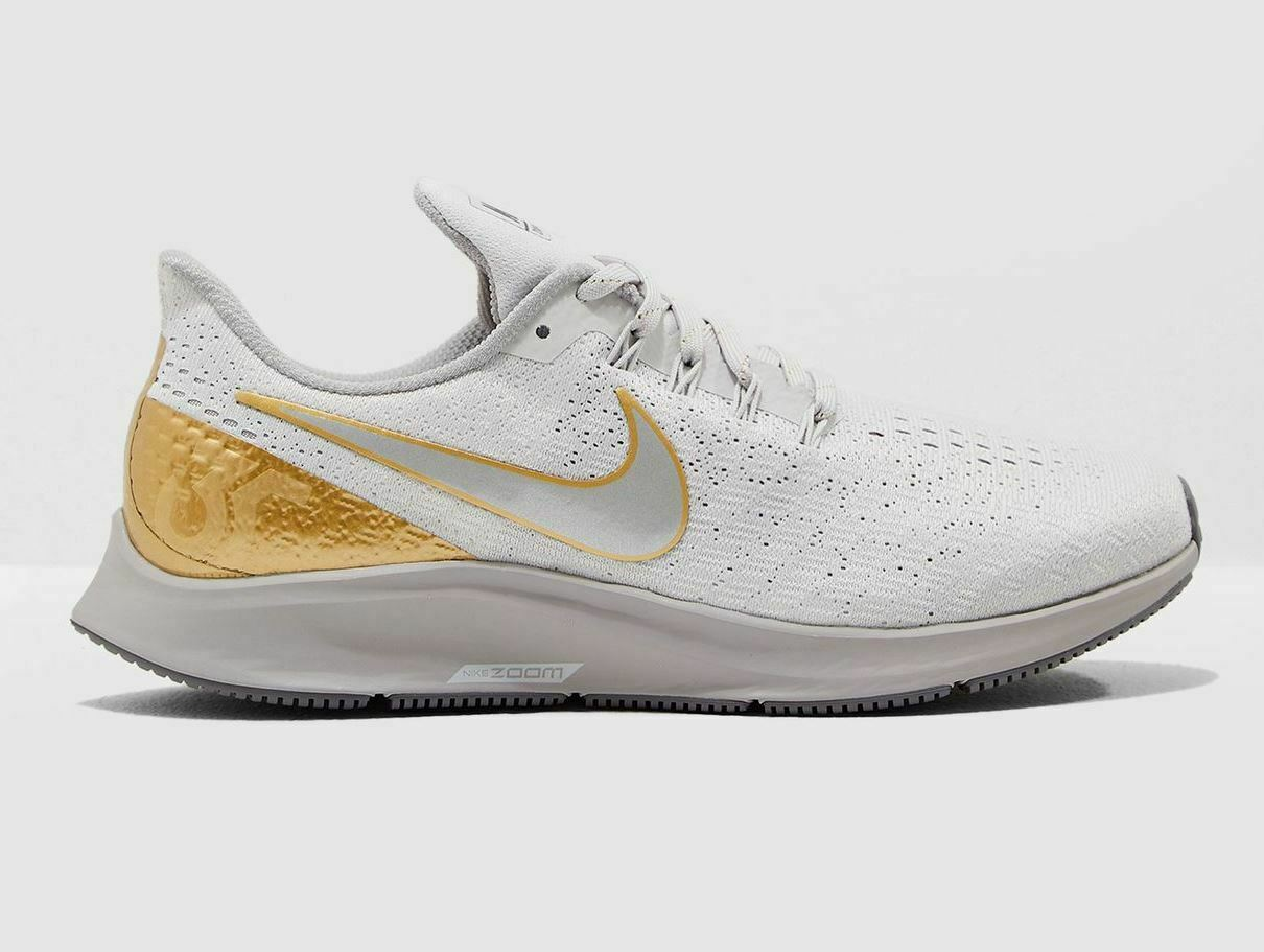 Nike Air zoom Pegasus 35 metalizado premium talla 38 zapatillas gris oro av3046 001