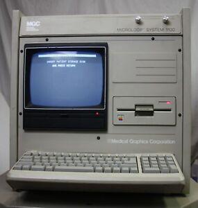 Vintage 1987 Medical Graphics Microloop 1100 Spirometer, Apple IIe, Many Cards