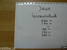 J0001 JAWA---INSTRUCTIE BOEK 150 + 250 + 125 + 175 + 350cc----MODEL