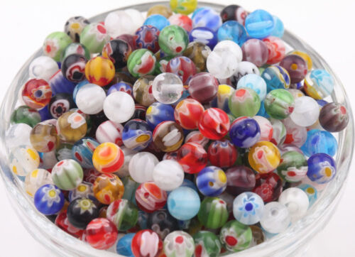 20Pcs Various Shape Chic Millefiori Glass Loose Spacer Beads Jewelry Finding DIY