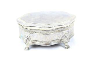 Vintage Sheridan Silver Jewelry Trinket Box