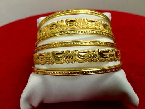 Indian Ethnic Bollywood 6PC Or Plaqué Bijoux Mode Bracelets Bracelets Set