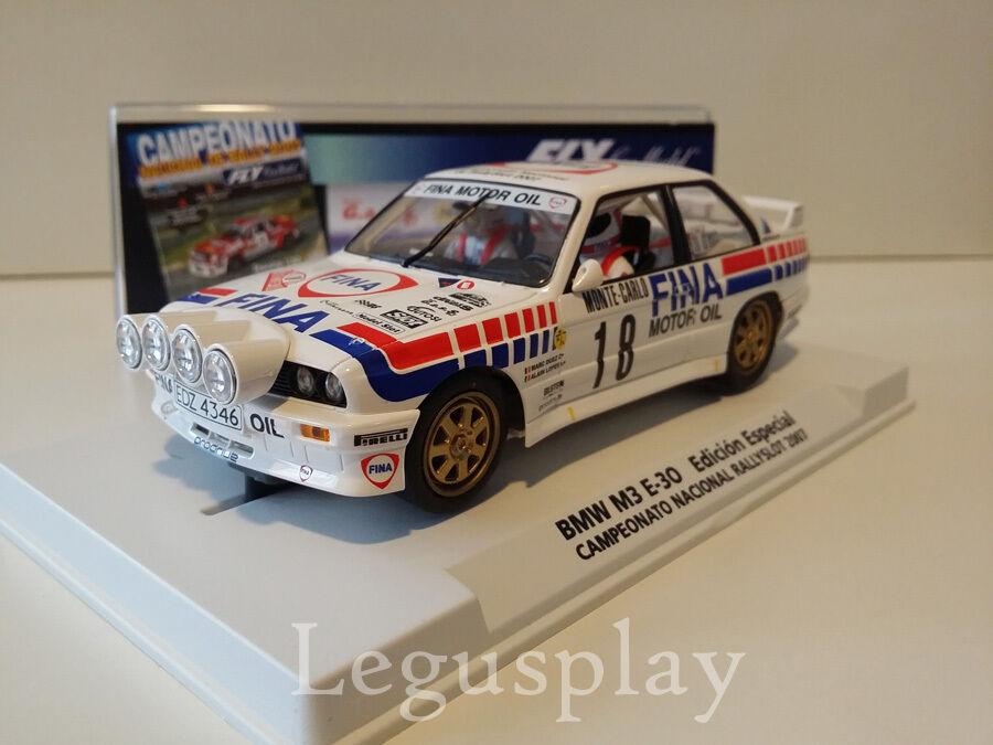 Slot SCX Scalextric Fly 99077 BMW M3 E30 Campionato Nazionale Rallyslot 2007