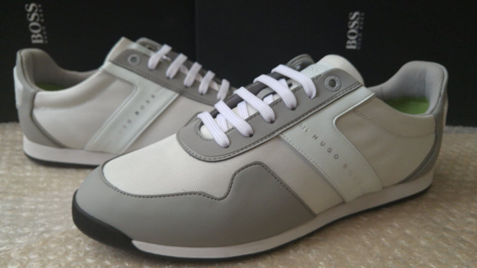 Hugo Boss Maze_Lowp_tech men's light grey trainers size 6UK (40EU)