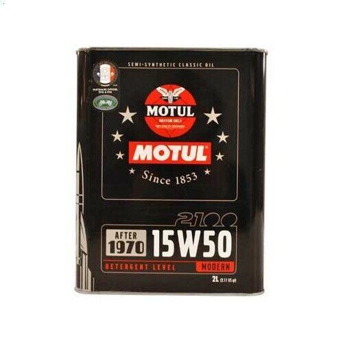 Huile moteur MOTUL 15W50 2100 Classic - 2 Litres 3374650237473