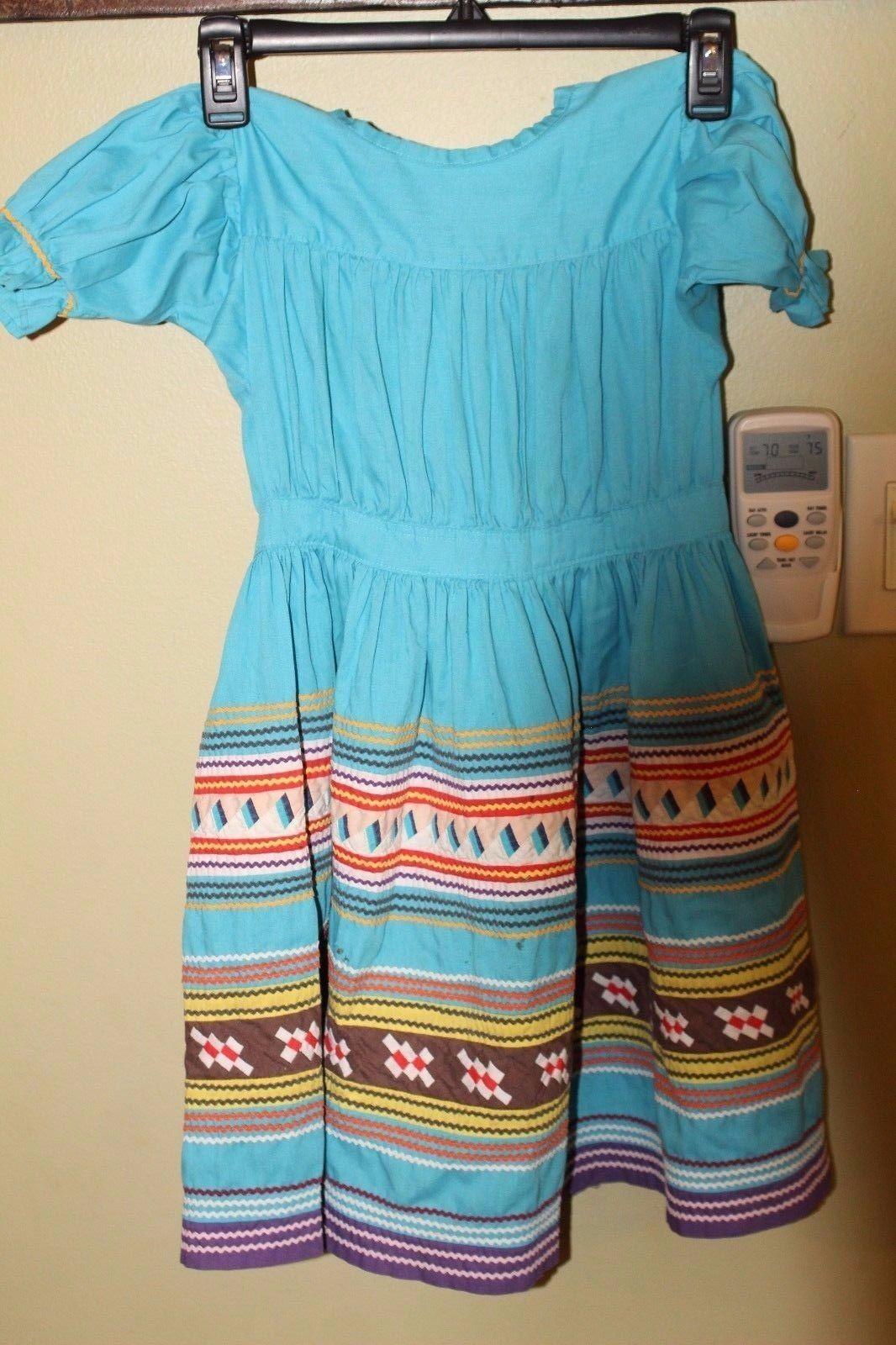 Miccosukee Seminole Handmade Patchwork Childs Dre… - image 1