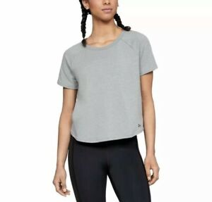 Under-Armour-Threadborne-Terry-Short-Sleeve-Womens-Size-Small-New-and-Unworn