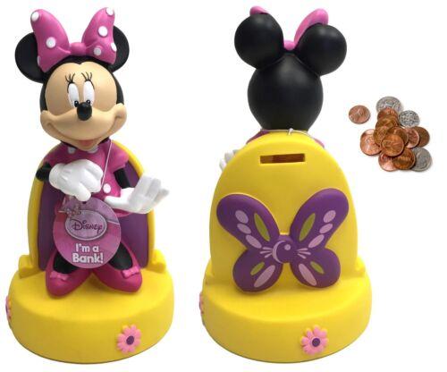 Disney Coin Bank Collection-Moulé Piggy MICKEY MINNIE BELLE Voitures DOC Banque