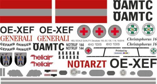 Decals EC 135 ÖAMTC OE-XEF