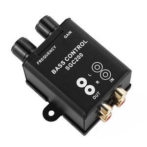 Car-RCA-Adjust-Line-Level-Volume-Control-Knob-Subwoofer-Equalizer-Bass-Bosster