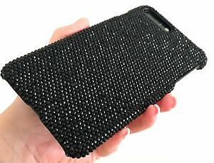 iPhone-X-XS-Bling-Case-Made-with-Swarovski-Crystals-Black-Jet-Rhinestones-Cover