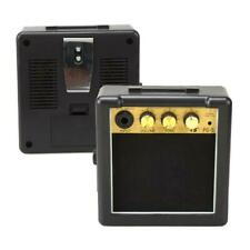 Portable Mini Electric Guitar Amplifier Speaker Speakers Amp 5W Black + Gold