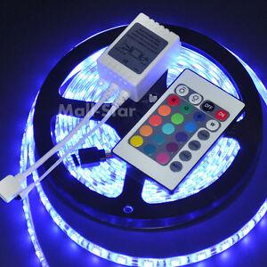 5M-300LED-Strip-Light-24-Key-IR-Remote-Controller-5050-SMD-RGB-Waterproof-IP65