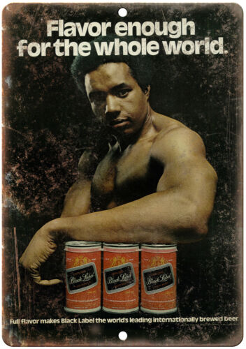 Black Label Beer Retro Man Cave Décor Vintage Ad Reproduction Metal Sign E133