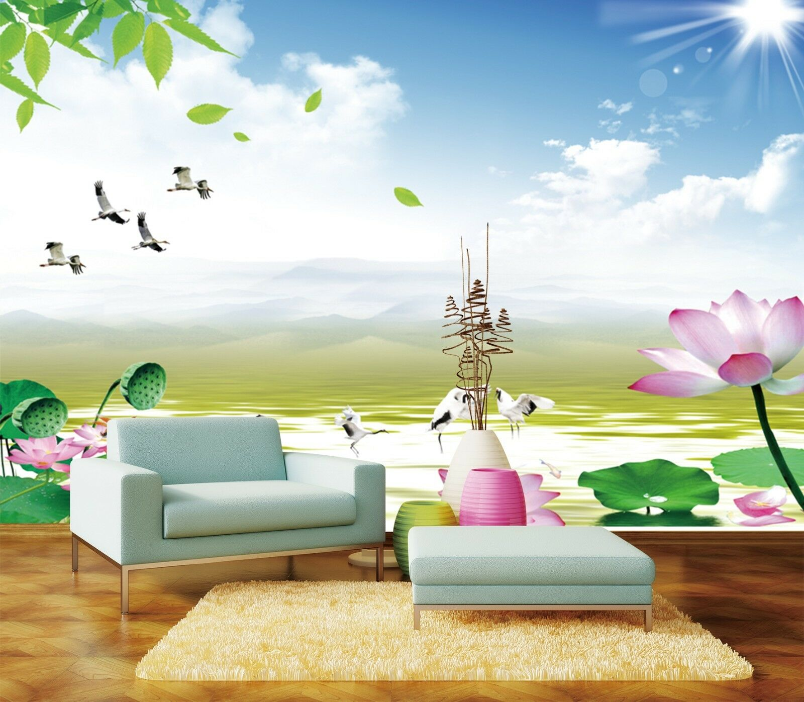 3D Himmel Teich Natur 7783 Tapete Wandgemälde Tapeten Bild Familie DE Jenny