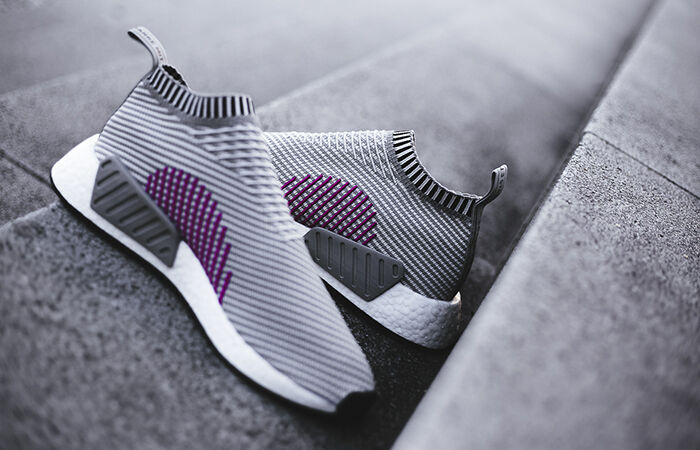 eef6c020e89b8 adidas Nomad City Sock Primeknit NMD Cs2 PK Grey Pink Ba7187 Size 10.5 for sale  online