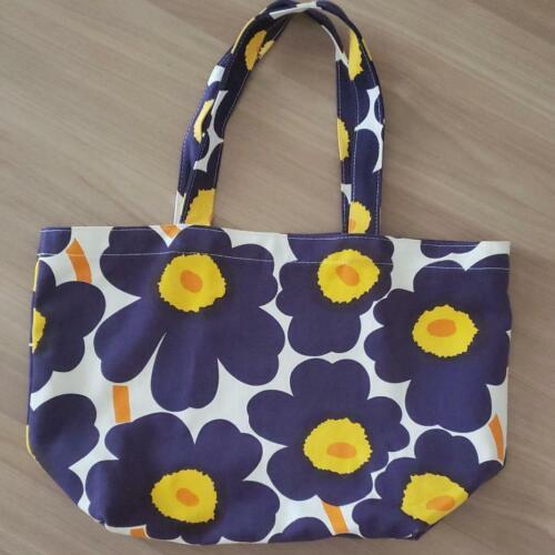 Marimekko Unikko Tote Bag Hand Bag Small Bag Blue