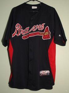 922b03480 Image is loading Majestic-Authentic-Atlanta-Braves-Jersey-Size-Medium-Cool-