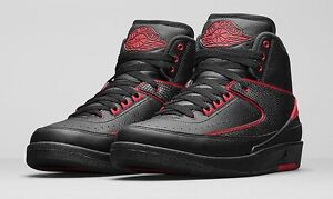 Air Jordan 2 II Retro Alternate 87 Black Varsity Red 834274-001  6db0a11a3