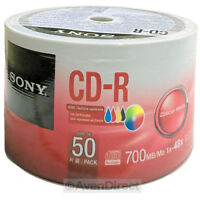 300 Sony 48x White Inkjet 700mb 80min Cd-r Disc Media [free Priority Mail]