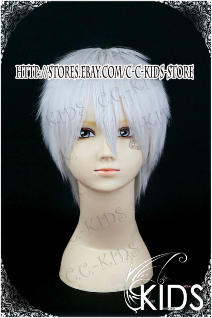 Jormungand Jonah cosplay wig costume silver white colour short