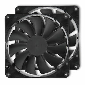 Rosewill-2Pack-140mm-12V-Computer-Case-Cooling-Fans-w-LP4-Adapter-RFBF-131411