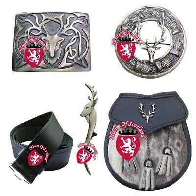 Details about  /HS Highland Kilt Outfit Pin /& Brooch Dragon Belt Buckle Leather Celtic Embossed