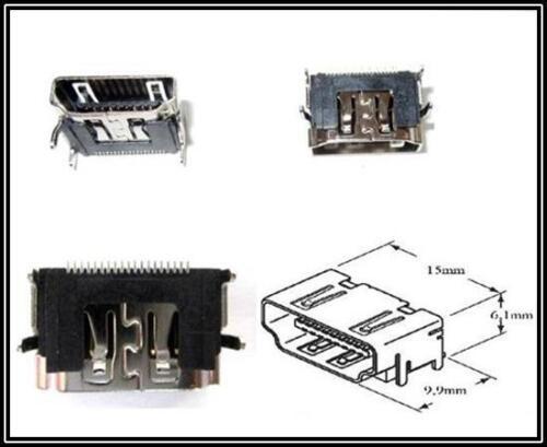 Conectores HDMI barra los conectores o enchufes montaje superficies 19 polos 2 unid.