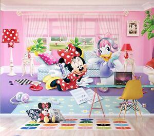 Disney Bambini Carta da Parati Camera da Letto Minni e Margherita ...
