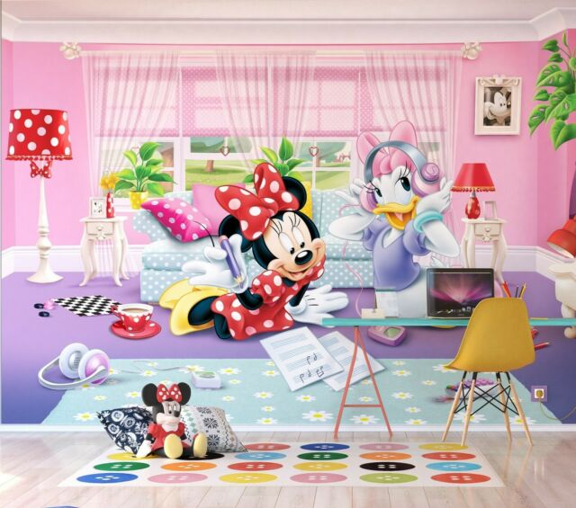 Disney Kids Bedroom Wallpaper Minnie Mouse And Daisy Photo Wall Mural Giant  Size
