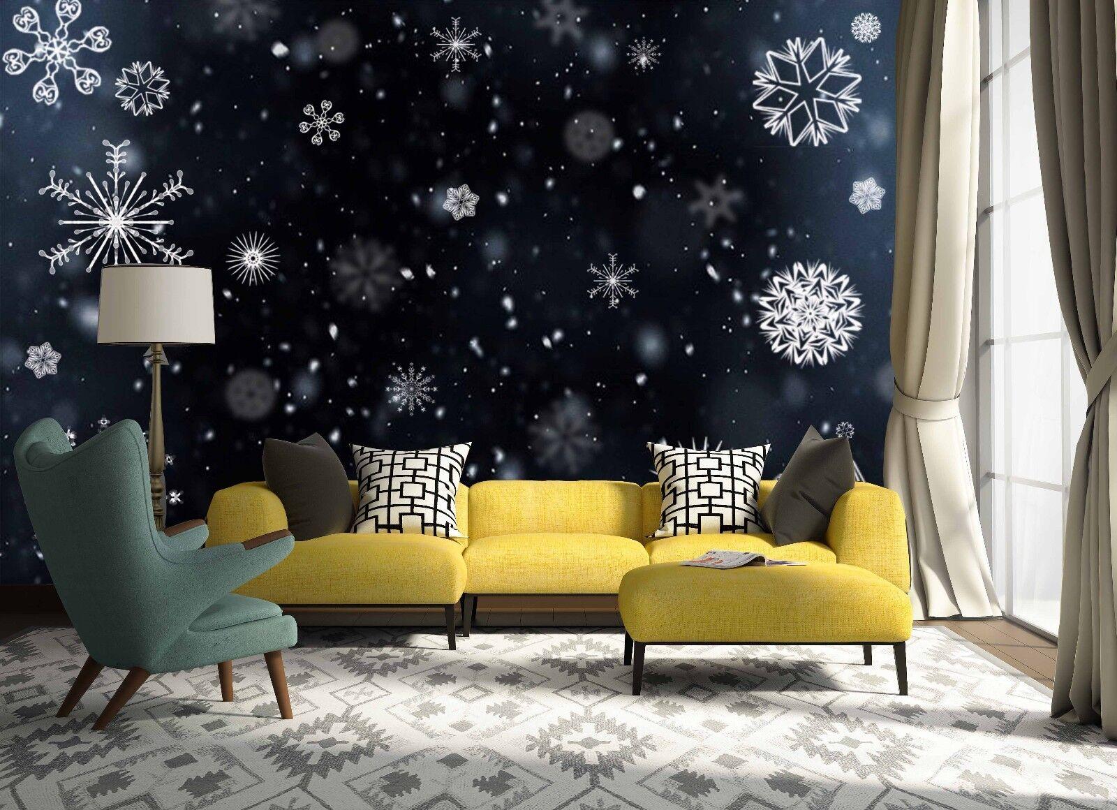 3D Snowflake 65 Wallpaper Murals Wall Print Wallpaper Mural AJ WALLPAPER UK