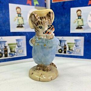 Rare Beatrix Potter Figurine TOM KITTEN & BUTTERFLY Warne Beswick England #2