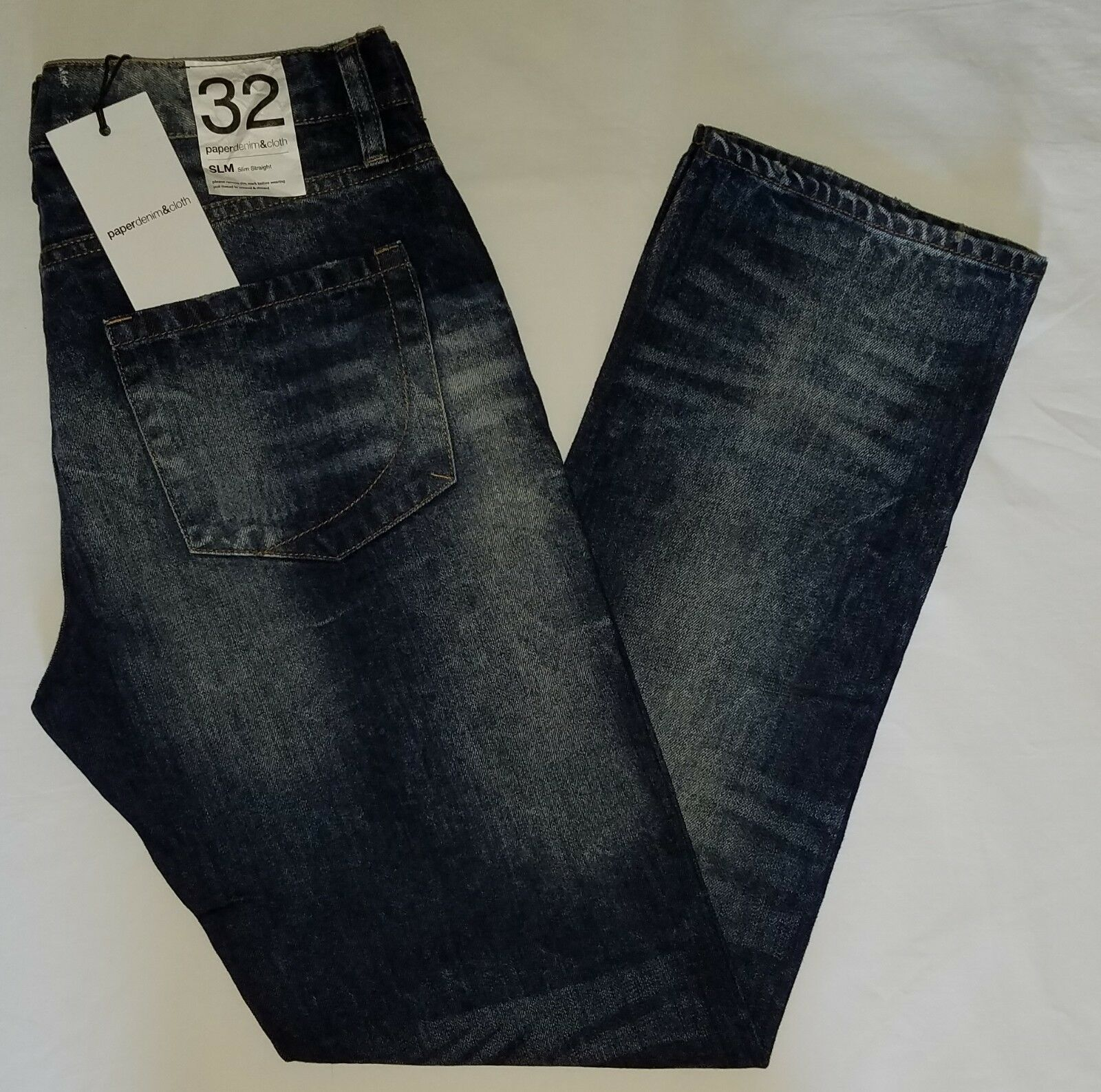 Mens NEW  paper denim&cloth slim straight leg denim jeans sz 32 32