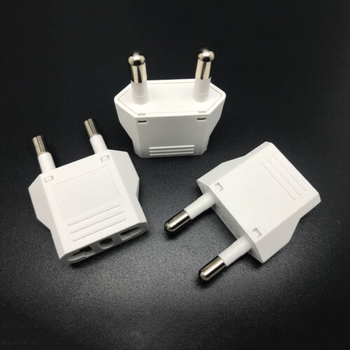 1Pc Travel Charger Wall AC Power Plug Adapter Converter US USA to EU Europe Pip
