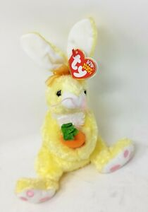 """TY Beanie Baby  Nibblies, Yellow Bunny - 9"""""""