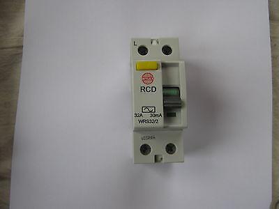 Wylex WRS32//2 2 Pole 32A RCD 30mA