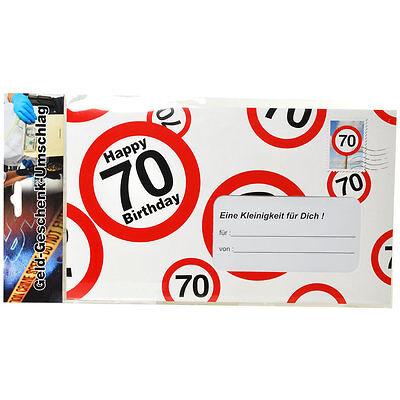 70Geburtstag Geschenk Happy Birthday Geldgeschenk Geburtstagskarte Geldkarte