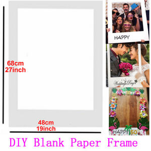 Photo Booth Props Diy Blank Picture Paper Frame Wedding Birthday Hen