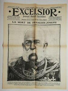 N732-La-Une-Du-Journal-Excelsior-23-novembre-1916-la-mort-de-Francois-Joseph