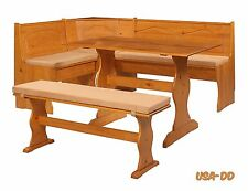 Breakfast Kitchen Nook Cushion Set Seat Dining Corner Bench Chelsea Solid Wood